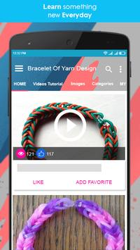 Bracelet Of Yarn Design screenshot 1