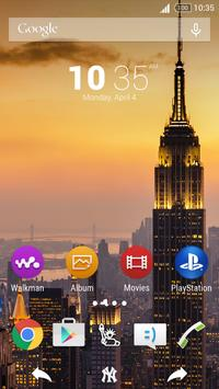 For Xperia Theme New York poster