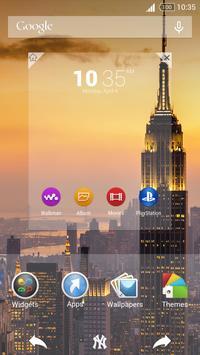 For Xperia Theme New York apk screenshot