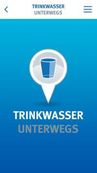 Trinkwasser unterwegs poster