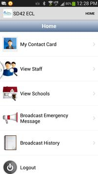 SD42 Emergency Contacts apk screenshot