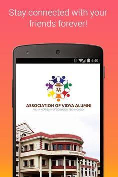 Vidya Alumni  Net (AVA) poster