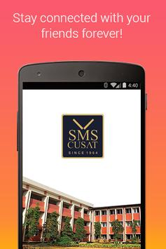SMS CUSAT Alumni Connect poster