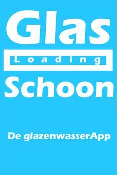 Glazenwasser poster