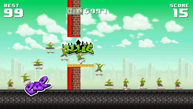Ollie Pop Retro Skateboarding apk screenshot