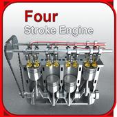 Four-stroke engine icon