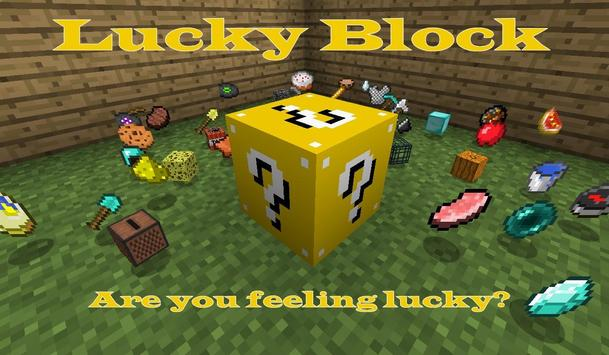 Lucky Gold Block Mod for MCPE poster