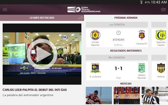 Copa TOTAL Sudamericana screenshot 5