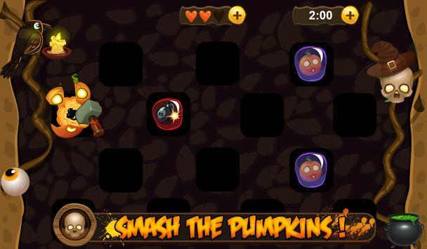 Halloween pumpkin smash poster