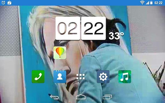 Nirvana Kurt Cobain Art LWP apk screenshot