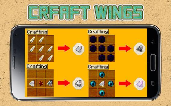 Wings Mod for Minecraft poster