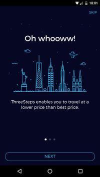 ThreeSteps Travel Cashback poster