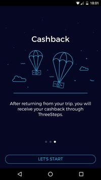 ThreeSteps Travel Cashback apk screenshot