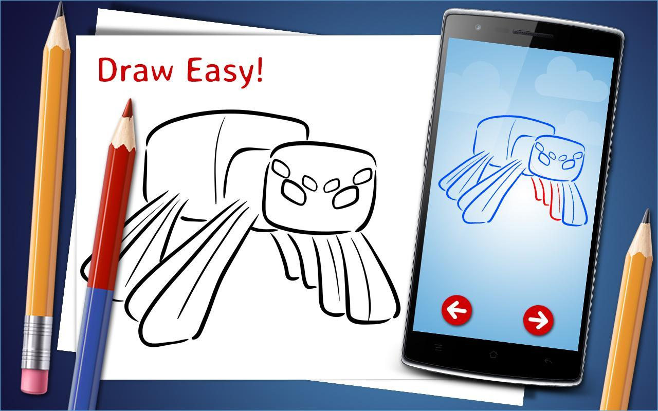 How To Draw Minecraft Step By Step Drawing App For Android Apk