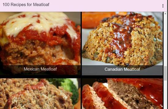 100 Recipes for Meatloaf apk screenshot