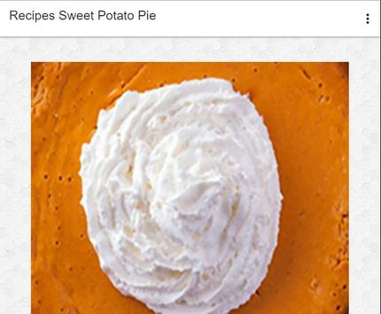 Recipes Sweet Potato Pie screenshot 6