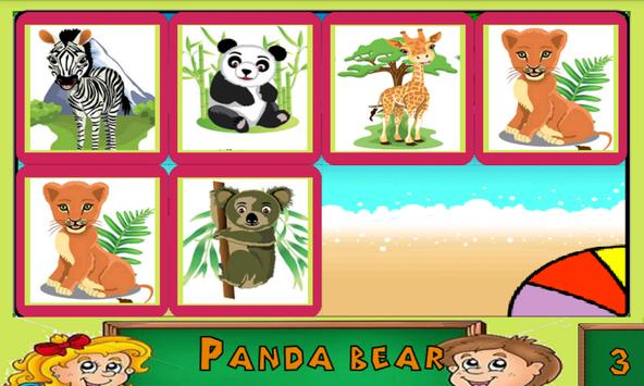 Educational Wild Animals apk screenshot