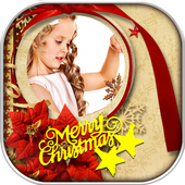christmas photo frame icon