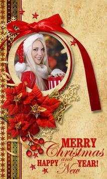 christmas photo frame poster
