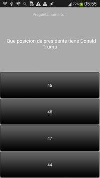 Preguntas sobre  Donald Trump poster