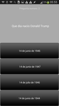 Preguntas sobre  Donald Trump apk screenshot