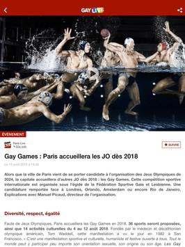 Gay Live : all LGBT news apk screenshot
