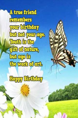 Free Happy Birthday Wishes Plakat Screenshot 1