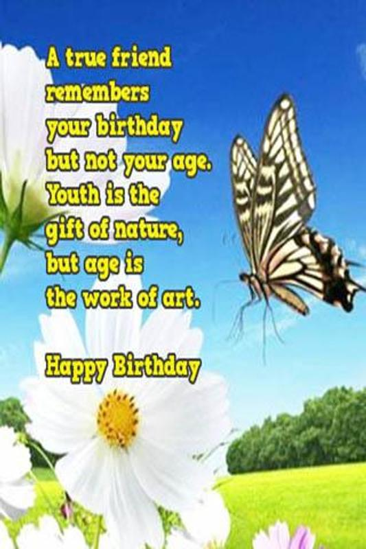 Free Happy Birthday Wishes Plakat Screenshot 1
