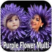 Purple Flower Hd Multi Photo Frames icon