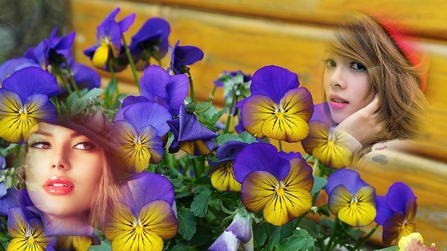 Purple Flower Hd Multi Photo Frames screenshot 1