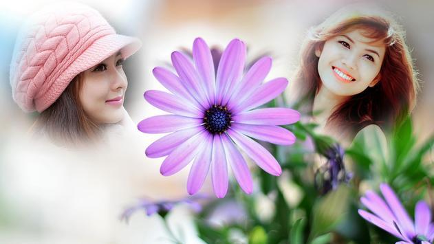 Purple Flower Hd Multi Photo Frames screenshot 2