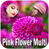 Pink Flower Photo Frames icon