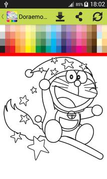Coloring Book Dorae Cat Apk Screenshot