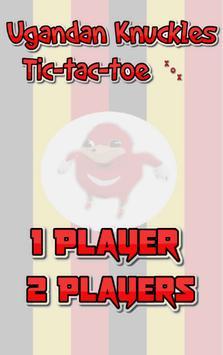 Ugandan Knuckles Tic-Tac-Toe poster