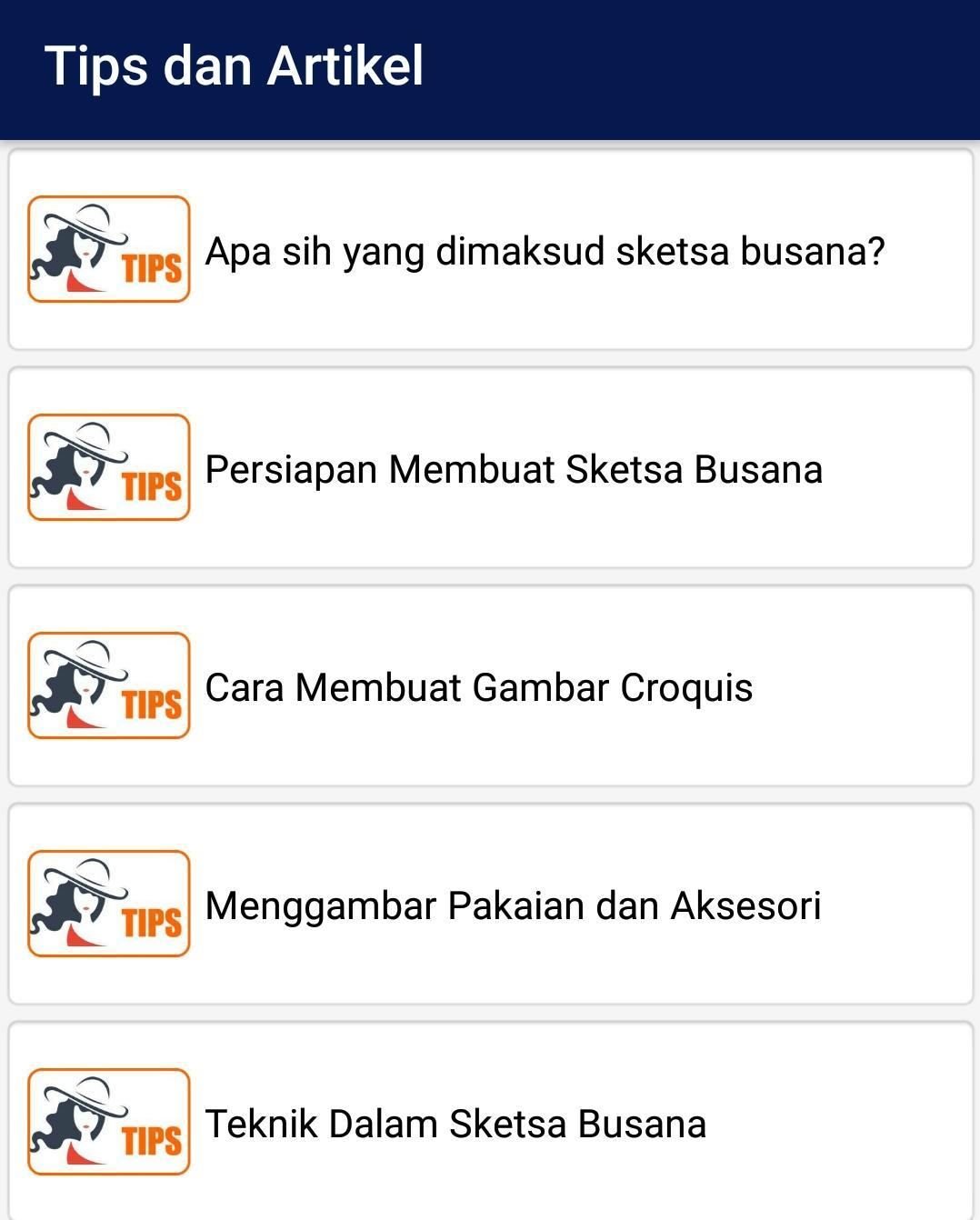 Sketsa Busana For Android APK Download