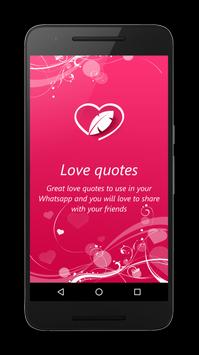 Love quotes apk screenshot