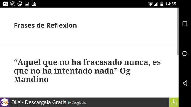 Frases de Reflexion apk screenshot
