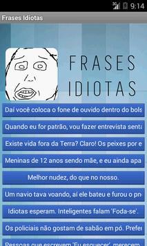 Frases Idiotas poster