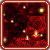 Candles Roses live wallpaper icon