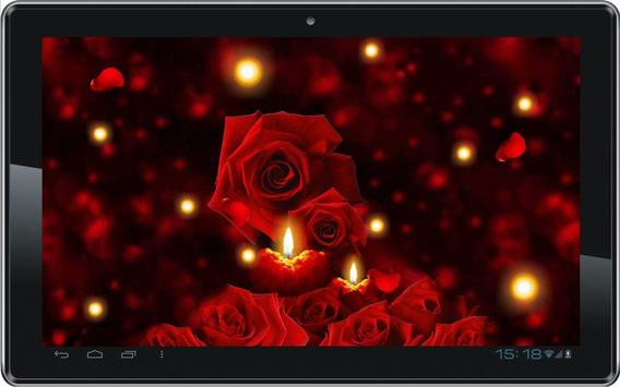 Candles Roses live wallpaper poster