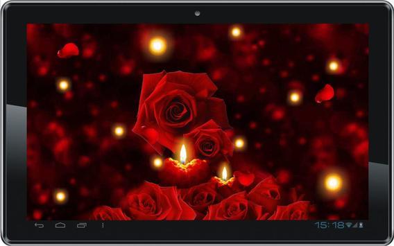 Candles Roses live wallpaper screenshot 1
