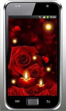 Candles Roses live wallpaper screenshot 2