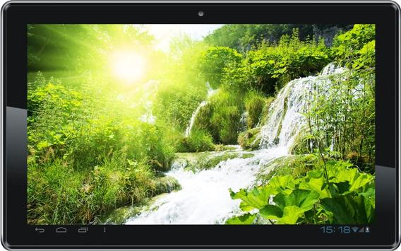 Waterfall Sunny Spring poster