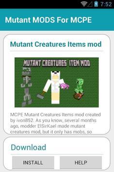 Mutant MODS For MCPE apk screenshot