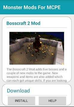 Monster Mods For MCPE apk screenshot