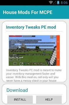 House MODS For MCPE apk screenshot