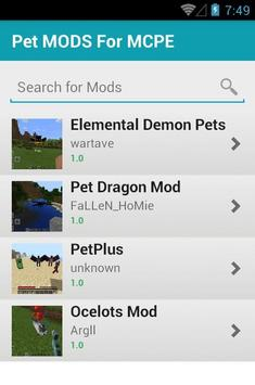 Pet MODS For MCPE apk screenshot