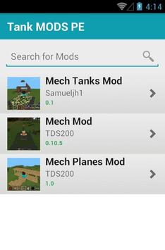 Tank MODS PE apk screenshot