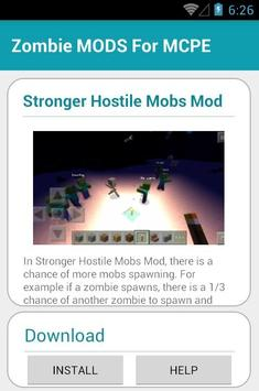 Zombie MODS FOR MCPE apk screenshot