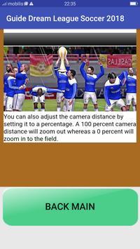 Guide Dream League Soccer 2018 screenshot 1